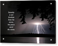 Lightning At Night - Inspirational Quote Acrylic Print
