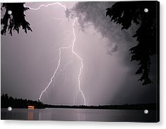 Lightning At The Lake Acrylic Print