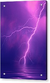 Lightning Bolts Over Water Acrylic Print by Jaynes Gallery