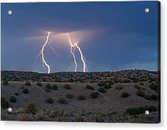 Lightning Dance Over The New Mexico Desert Acrylic Print