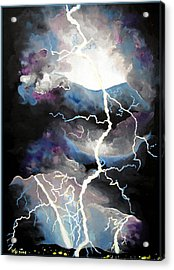 Acrylic Print featuring the painting Lightning by Daniel Janda