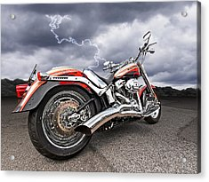 Lightning Fast - Screamin' Eagle Harley Acrylic Print