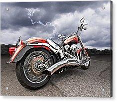 Lightning Fast - Screamin' Eagle Harley Acrylic Print by Gill Billington