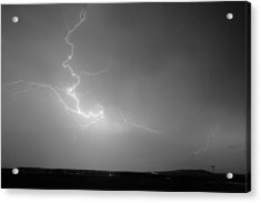 Lightning Goes Boom In The Middle Of The Night Bw Acrylic Print by James BO  Insogna