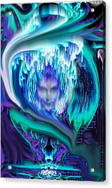 Lightning In A Jar Acrylic Print by Seth Weaver