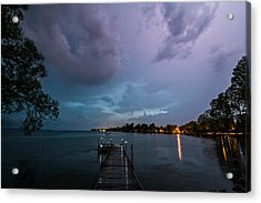 Lightning Lighting Acrylic Print by Matt Molloy