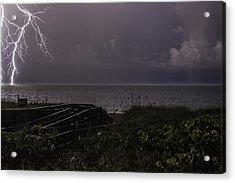 Lightning On The Water Acrylic Print