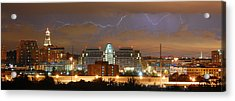 Acrylic Print featuring the photograph Lightning Over Alexandria by Michael Donahue