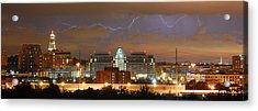 Lightning Over Alexandria Acrylic Print by Michael Donahue
