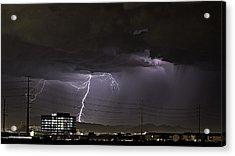 Lightning Over Las Vegas Acrylic Print