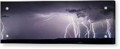 Lightning Over The Wind Farm Acrylic Print