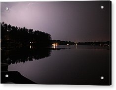 Lightning Over Water Acrylic Print by Sarah Klessig
