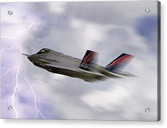 Lightning Speed Acrylic Print by Peter Chilelli