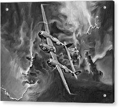 Lightning Strike-bw Acrylic Print by Peter Chilelli