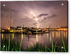 Acrylic Print featuring the photograph Lightning Strikes Annapolis by Jennifer Casey