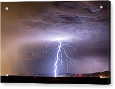 Lightning Strikes Following The Rain  Acrylic Print by James BO  Insogna