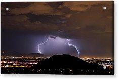 Lightning Strikes Phoenix  Acrylic Print by Saija  Lehtonen