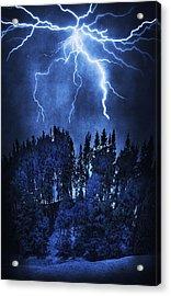 Lightning Acrylic Print by Svetlana Sewell