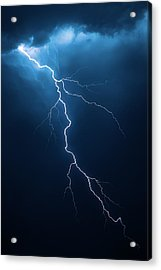 Lightning With Cloudscape Acrylic Print by Johan Swanepoel
