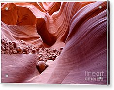 Acrylic Print featuring the photograph Lights And Rocks In The Canyon by Ruth Jolly