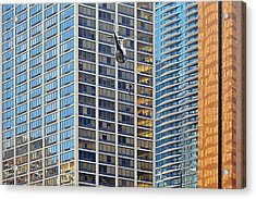 Lights - Camera - Action - Movie Backdrop Chicago Acrylic Print by Christine Till
