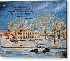 Lights Go Down  Acrylic Print by Rita Brown