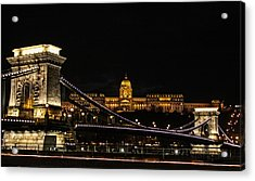 Lights Of Budapest Acrylic Print