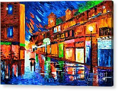 Lights Of Love Acrylic Print