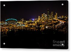 Lights Of Seattle Acrylic Print
