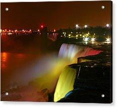 Lights On Niagara Falls Acrylic Print