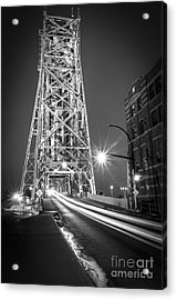 Acrylic Print featuring the photograph Lightspeed Through The Lift Bridge by Mark David Zahn
