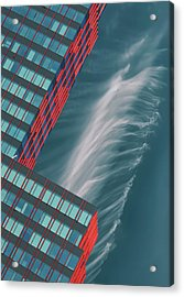 Like A Feather In The Air. Acrylic Print by Greetje Van Son
