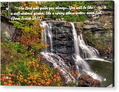 Like A Spring Whose Water Never Fails - Isaiah 58. 11 Acrylic Print