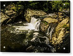 Lil Bald River Falls Acrylic Print by Marilyn Carlyle Greiner