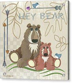 Lil Boys Bears Acrylic Print