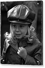 Lil Miss Leather Acrylic Print by Hal Norman K