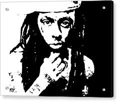 Acrylic Print featuring the painting Lil Wayne  by Cherise Foster