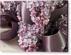 Lilac And Ribbon Curls Acrylic Print