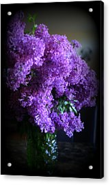 Lilac Bouquet Acrylic Print by Kay Novy