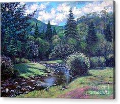 Lilac Brook Acrylic Print by Gerard Natale