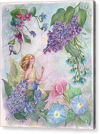 Lilac Enchanting Flower Fairy Acrylic Print