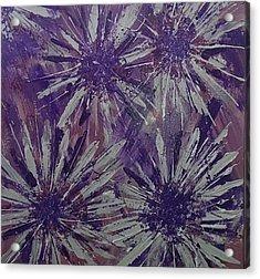 Lilac Garden Acrylic Print by Judi Goodwin