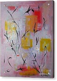 Lilac Acrylic Print by Jacqueline Howett