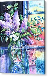 Acrylic Print featuring the painting Lilac Light by Trudi Doyle