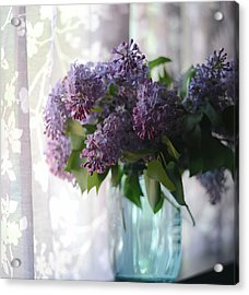 Acrylic Print featuring the photograph Lilac Morning by Linda Mishler