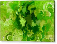 Lilac Of The Valley Green White Acrylic Print by Holley Jacobs