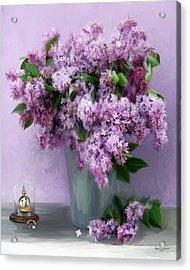 Lilac Spring Acrylic Print by Yvonne Della-Moretta