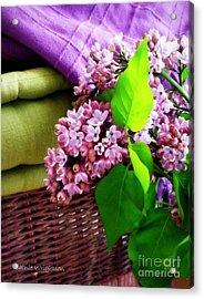 Lilac Still Life Acrylic Print by Lainie Wrightson