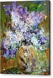 Lilac Time Acrylic Print by Mary Spyridon Thompson
