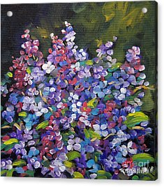 Lilac_burst_by_prankearts Acrylic Print by Richard T Pranke